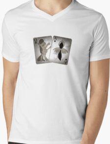 Blackjack Cutie Mark (Weathered) Mens V-Neck T-Shirt