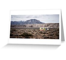 The end of desert travel Greeting Card