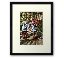 Happy Bali Boys Framed Print