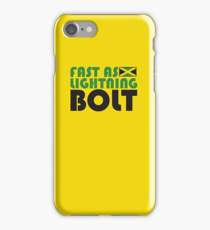 Fast As Lightning Bolt iPhone Case/Skin