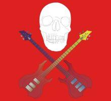 guitar cross bones  Kids Clothes