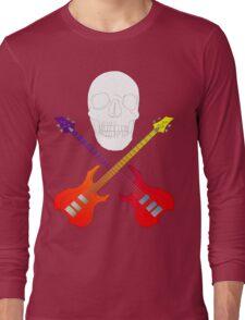 guitar cross bones  Long Sleeve T-Shirt