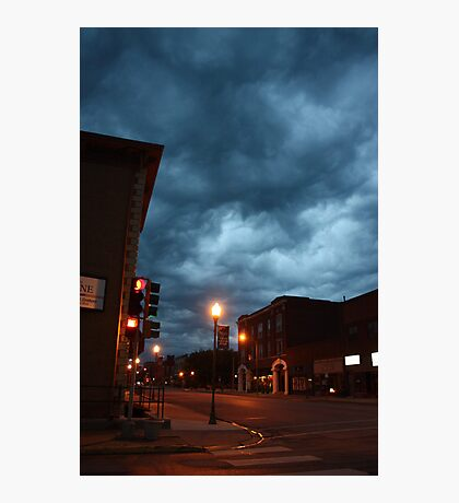 Small town storm coming Photographic Print