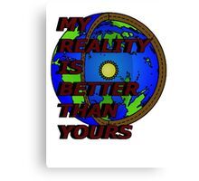 my reality (hollow earth) Canvas Print