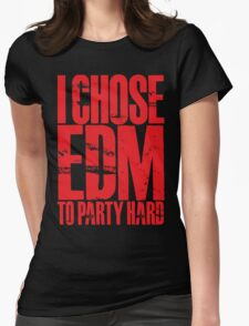 I Chose EDM To Party Hard (red) T-Shirt