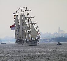 Tall Ship On The Hudson Rv. by pmarella