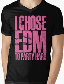 I Chose EDM To Party Hard (light pink) Mens V-Neck T-Shirt