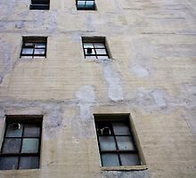 Urban abstract photo of windows by crazylemur
