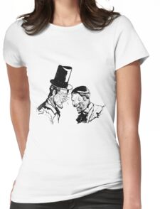 Super Lincoln vs Zombie Hitler Womens Fitted T-Shirt