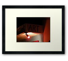 Art at Night Framed Print