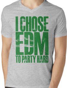 I Chose EDM To Party Hard (green) Mens V-Neck T-Shirt