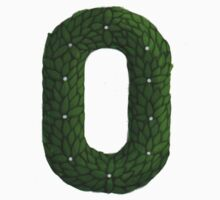 "Topiary Lower Case ""o"" sticker by Donna Huntriss"