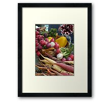 At the Farmers Market Framed Print