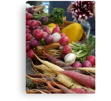 At the Farmers Market Canvas Print