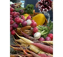 At the Farmers Market Photographic Print