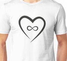 Infinite Love (Black) Unisex T-Shirt