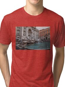 Rome's Fabulous Fountains - Trevi Fountain, No Tourists Tri-blend T-Shirt