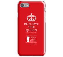 RUN SAVE THE QUEEN iPhone Case/Skin