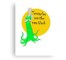 tentacles are the new black Canvas Print
