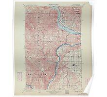 USGS Topo Map Washington State WA Chelan 240440 1901 125000 Poster