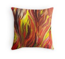 Abstract Flames Throw Pillow