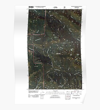 USGS Topo Map Washington State WA Meadow Mountain 20110425 TM Poster