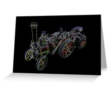 Miniature Traction Engine Greeting Card
