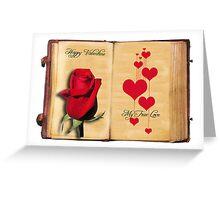 Happy Valentine – My True Love  Greeting Card