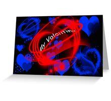 Neon Hearts Greeting Card