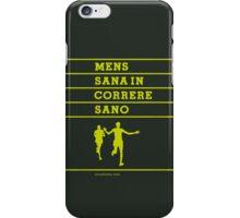 MENS SANA IN CORRERE SANO iPhone Case/Skin