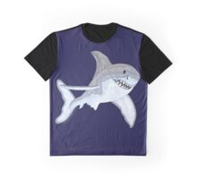 Great White Shark Fanciful Aquatic Watercolor Graphic T-Shirt