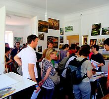 yesterday more than five hundred people from different countries visited my studio.. by Almeida Coval