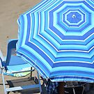 Blue Brolly by Fay  Hughes