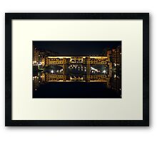 Ponte Vecchio by Night Framed Print