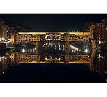 Ponte Vecchio by Night Photographic Print