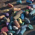 Rainbow of chalk by Jaysen Edgin