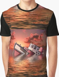 Sinking Boat Graphic T-Shirt