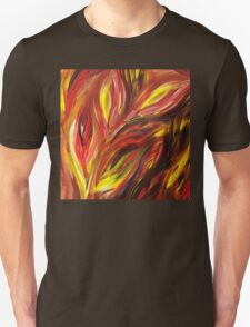 Abstract Floral Flaming Leaves Unisex T-Shirt