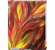 Abstract Floral Flaming Leaves iPad Case/Skin