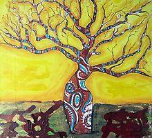 Boab Tree Bright by gillsart