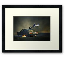383AXE Burnout Framed Print