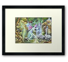 'Waterfall Feys' by Jo Morgan Framed Print