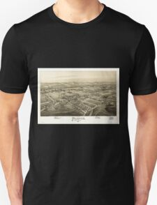 Panoramic Maps Plains Luzerne County Pa Unisex T-Shirt