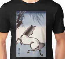 Japanese watercolor horse Unisex T-Shirt