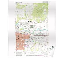 USGS Topo Map Washington State WA Greenacres 241421 1973 24000 Poster