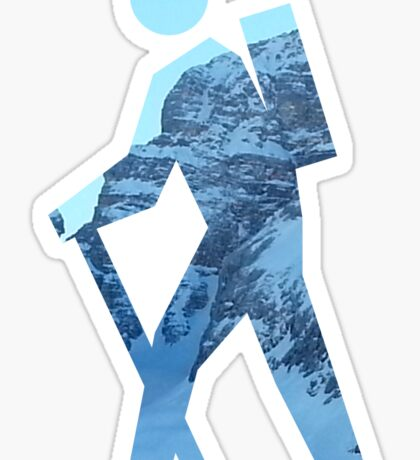 Alpine Hiker Sticker