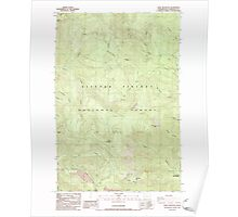 USGS Topo Map Washington State WA Bare Mountain 239937 1986 24000 Poster