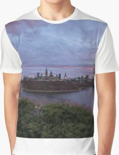 City landscape at sundown Graphic T-Shirt