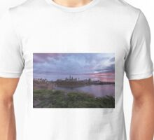 City landscape at sundown Unisex T-Shirt