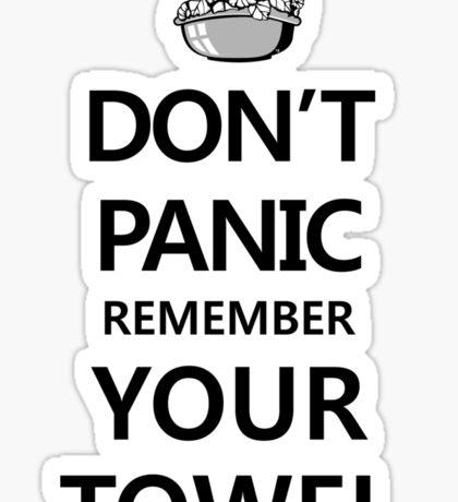 DON'T PANIC! Again... Sticker